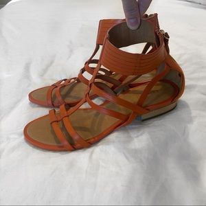 Coach Strappy Leather Sandals